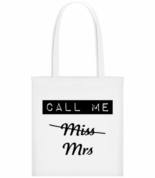 Call Me Mrs - Carrier Bag - White - Vorn