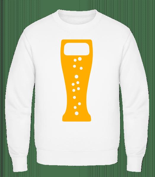 Bierglas - Männer Pullover - Weiß - Vorn