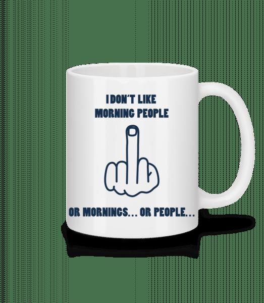 Morning People - Mug - White - Vorn
