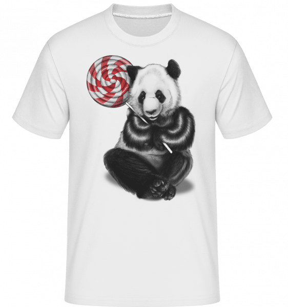 Candy Bear -  Shirtinator Men's T-Shirt - White - Vorn