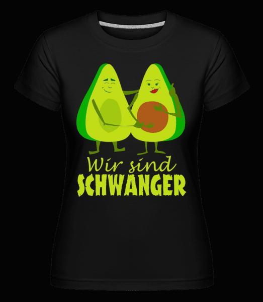 Avocado Schwanger - Shirtinator Frauen T-Shirt - Schwarz - Vorn