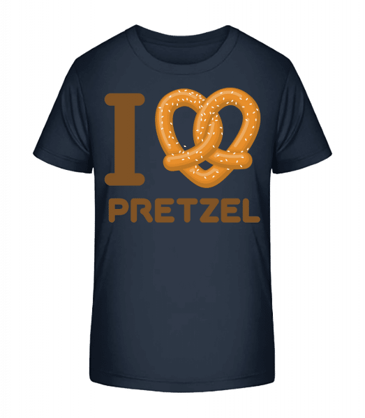 I Love Preclík - Detské Premium Bio tričko - Namornícka modrá - Predné