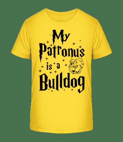 My Patronus Is A Bulldog - Kid's Premium Bio T-Shirt - Yellow - Vorn