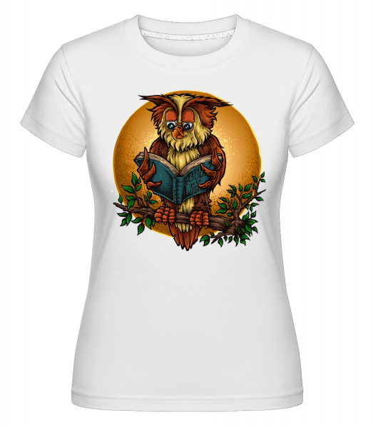 Wise Owl -  Shirtinator Women's T-Shirt - White - Vorn
