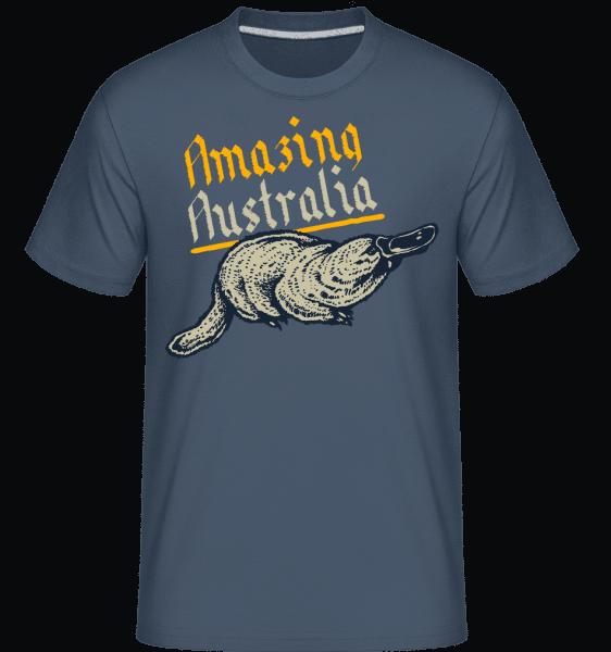 Platypus -  Shirtinator Men's T-Shirt - Denim - Vorn