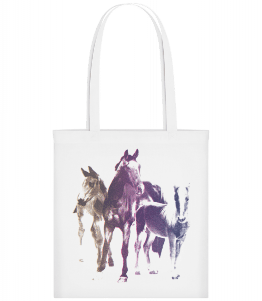 Polaroid Horses - Carrier Bag - White - Vorn