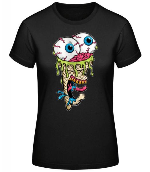 Horror Eis - Frauen Basic T-Shirt - Schwarz - Vorne