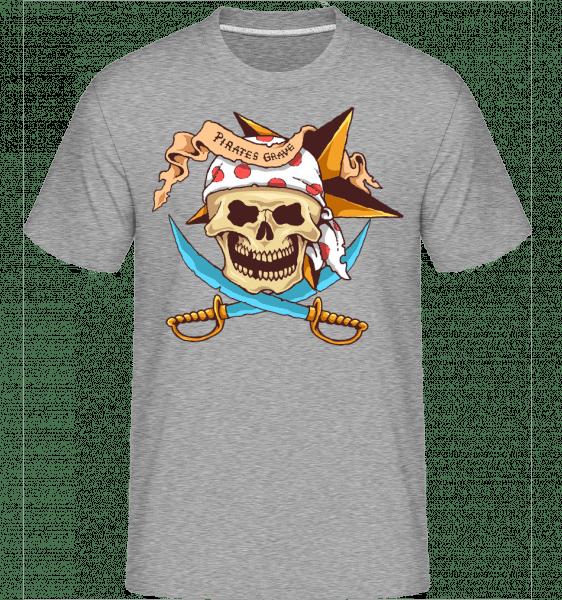 Pirate Grave -  Shirtinator Men's T-Shirt - Heather grey - Vorn