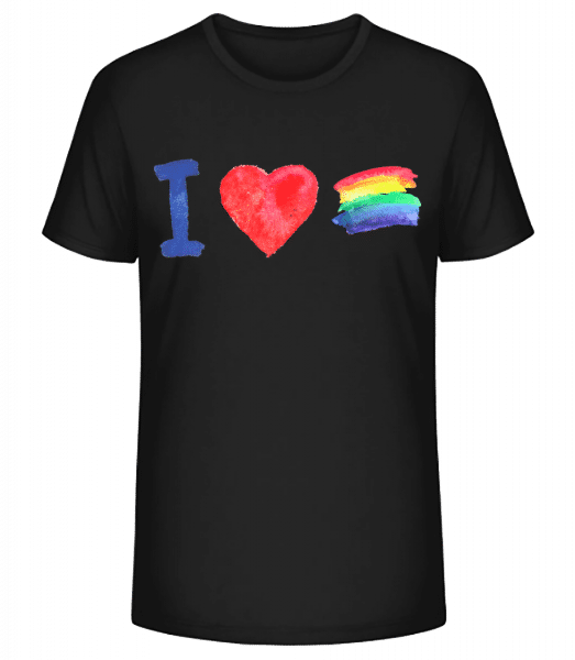 I Love Rainbows - Men's Premium Organic T-Shirt Stanley Stella - Black - Front
