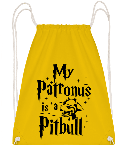 My Patronus Is A Pitbull - Drawstring Backpack - Yellow - Vorn