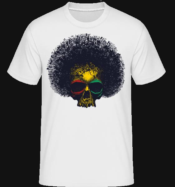 Crâne Reggae -  T-Shirt Shirtinator homme - Blanc - Vorn