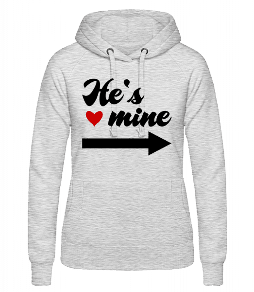 He's Mine - Women's hoodie - Heather grey - Vorn