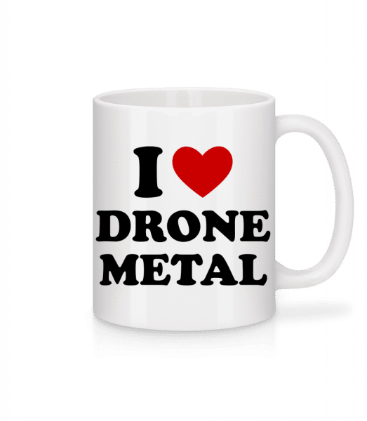 I Love Drone Metal - Mug - White - Vorn