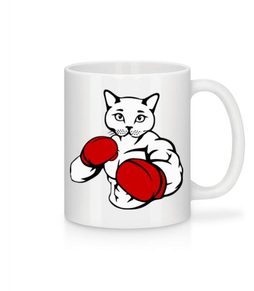 Boxing Cat - Mug - White - Front
