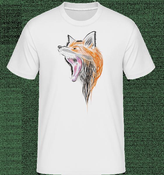 Brüllender Fuchs - Shirtinator Männer T-Shirt - Weiß - Vorn