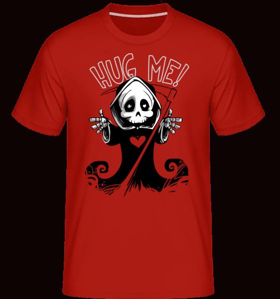 Death Want's A Hug -  Shirtinator Men's T-Shirt - Red - Vorn