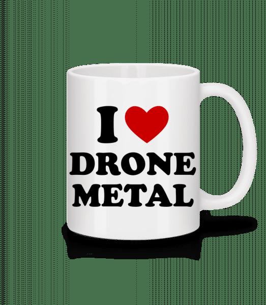 I Love Drone Metal - Mug - White - Front