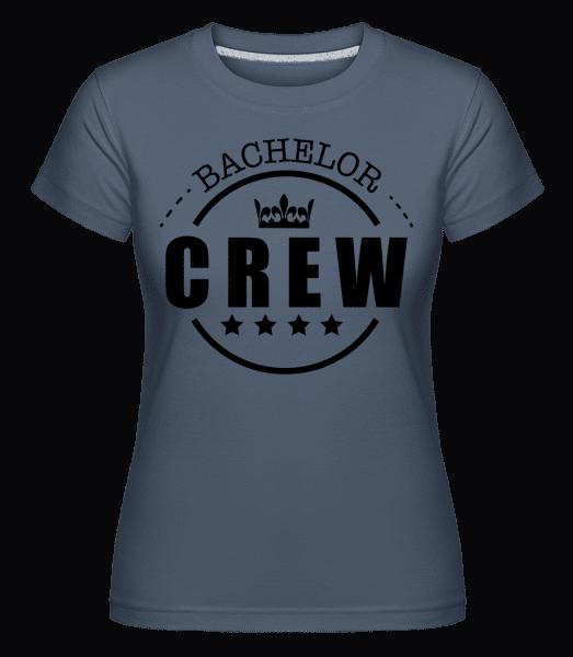Bachelor Crew -  Shirtinator Women's T-Shirt - Denim - Vorn