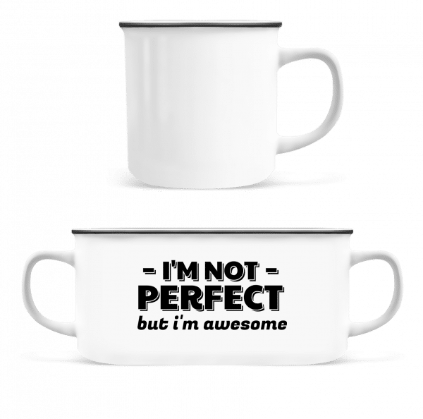 I'm Not Perfect - Enamel-cup - White - Vorn