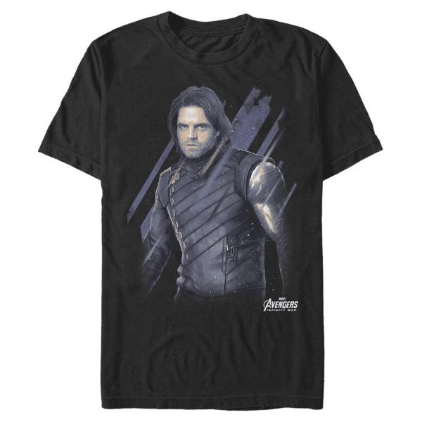 Distressed Bucky - Marvel Avengers Infinity War - Men's T-Shirt - Black - Front
