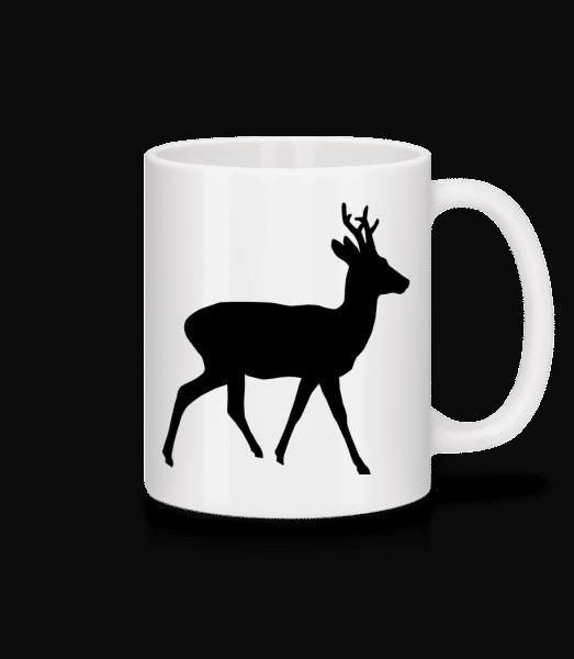 Silhouette Deer - Mug - White - Front