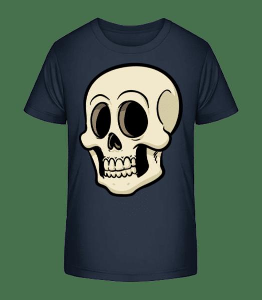 cartoon Skull - Detské Premium Bio tričko - Namornícka modrá - Predné