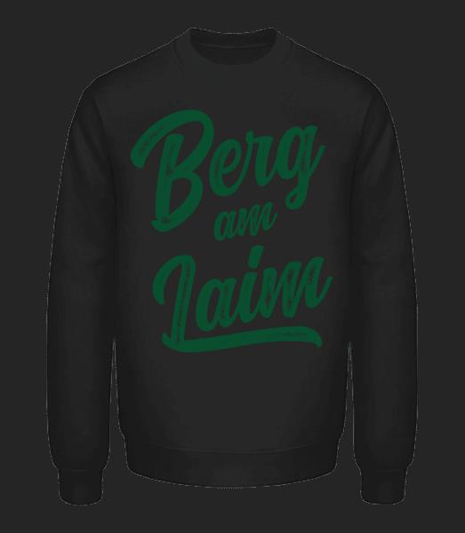 Berg Am Laim Swoosh - Unisex Pullover - Schwarz - Vorn