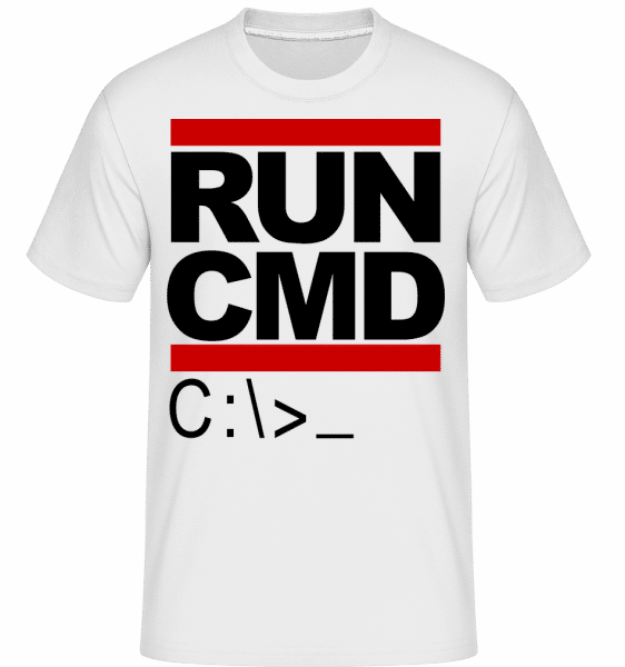 Run CMD -  Shirtinator Men's T-Shirt - White - Vorn