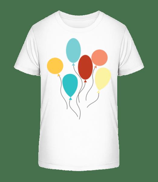 Many Balloons - Kid's Premium Bio T-Shirt - White - Vorn