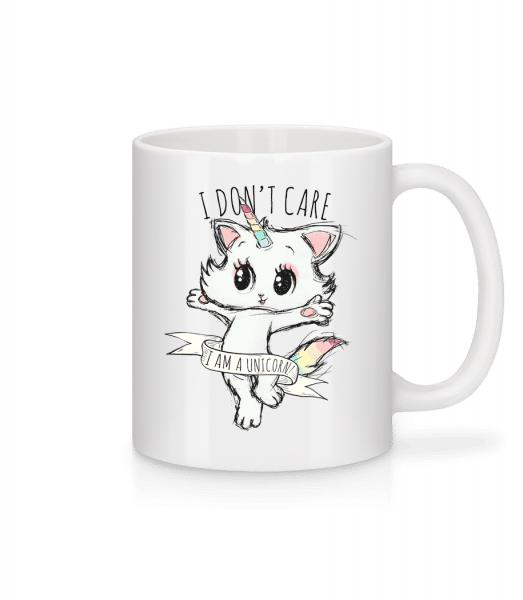 I Dont Care Unicorn - Mug - White - Front