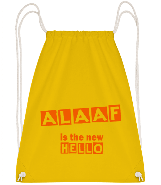 Alaaf Is The New Hello - Turnbeutel - Gelb - Vorn
