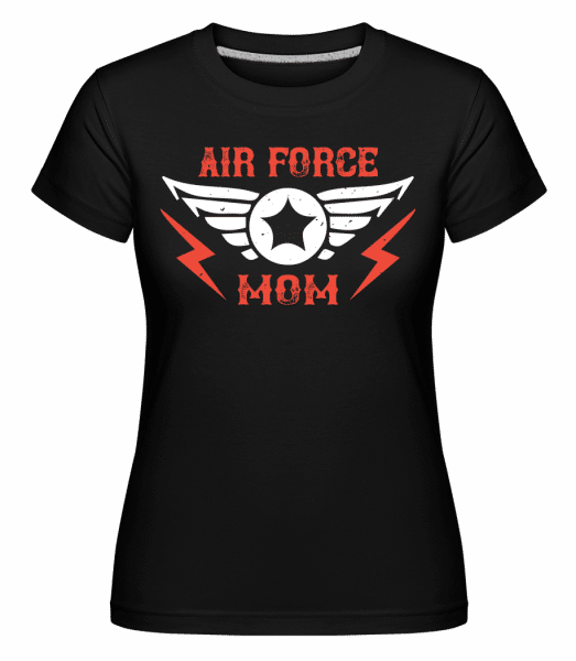 Air Force Mom -  Shirtinator Women's T-Shirt - Black - Vorn