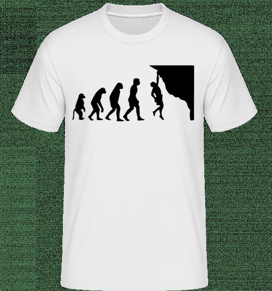 Climbing Evolution -  Shirtinator tričko pre pánov - Biela - Predné