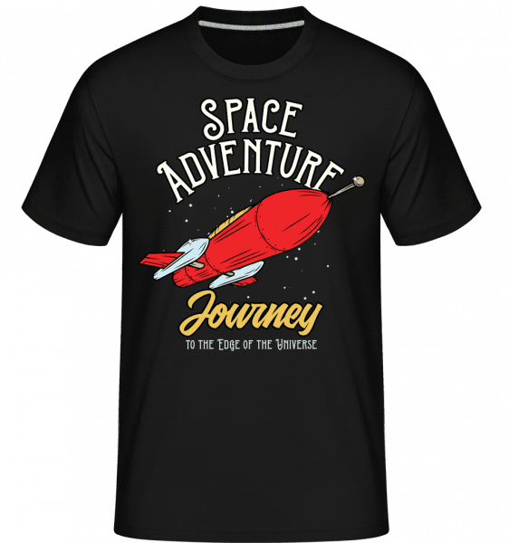 Space Adventure Journey -  Shirtinator Men's T-Shirt - Black - Vorn