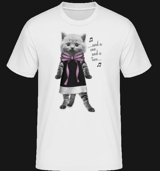 Dancing Cat -  Shirtinator Men's T-Shirt - White - Vorn