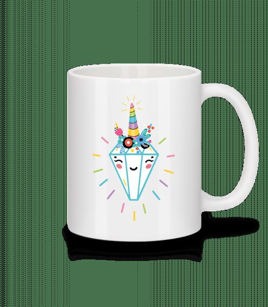 Fröhlicher Diamant - Tasse - Weiß - Vorn