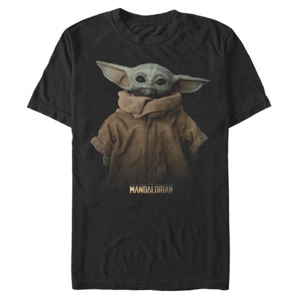 Full Size The Child - Star Wars Mandalorian - Men's T-Shirt - Black - Front