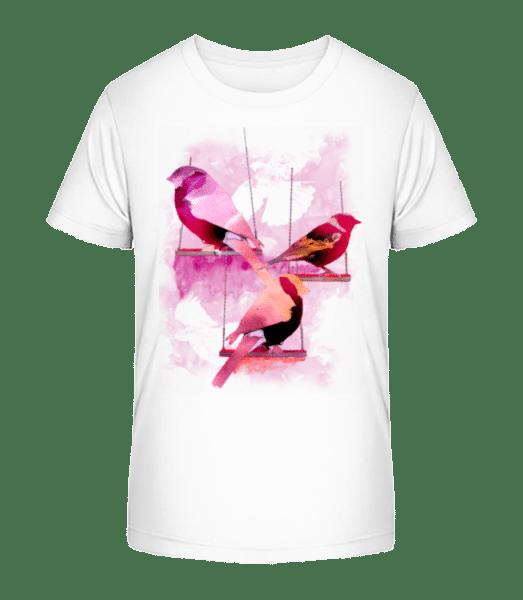 Bird Swings - Kid's Premium Bio T-Shirt - White - Vorn
