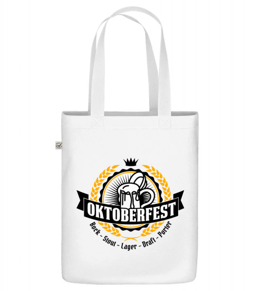 "Oktoberfest Maß - Organic ""Earth Positive"" tote bag - White - Front"