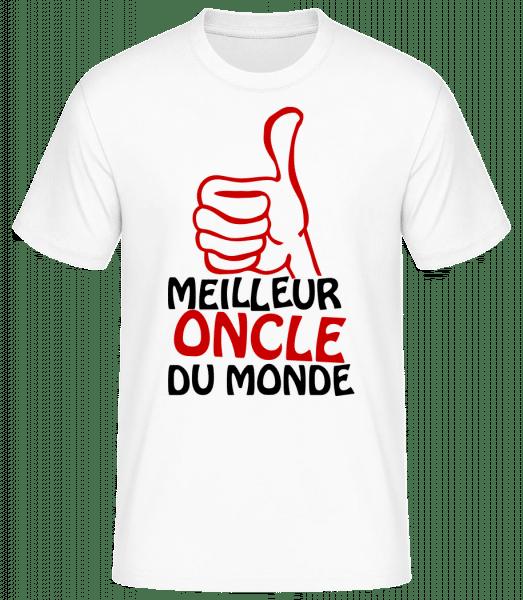 Meilleur Oncle Du Monde - T-shirt standard Homme - Blanc - Vorn