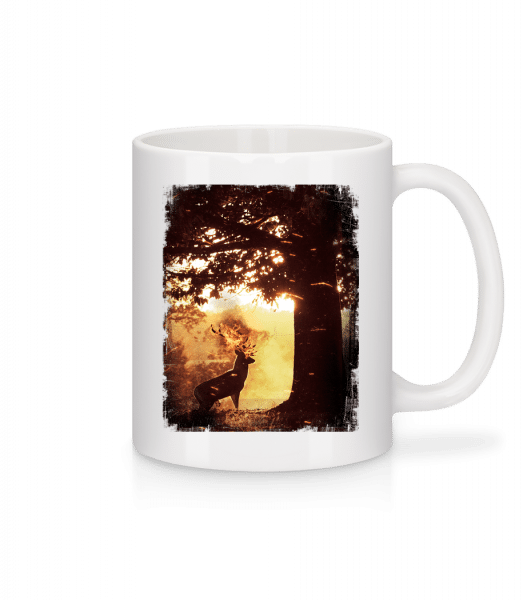 Sun Deer - Keramický hrnek - Bílá - Napřed