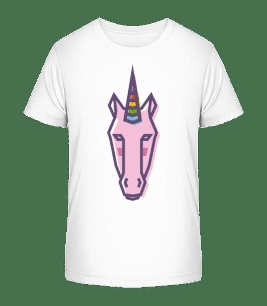 Unicorn Edged - Kid's Premium Bio T-Shirt - White - Front