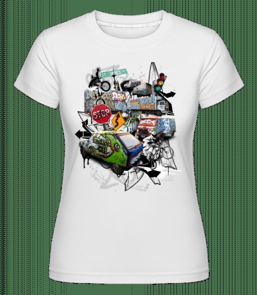 Traffic Chaos -  Shirtinator Women's T-Shirt - White - Vorn