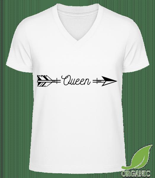 "Queen Arrow - ""James"" Organic V-Neck T-Shirt - White - Vorn"