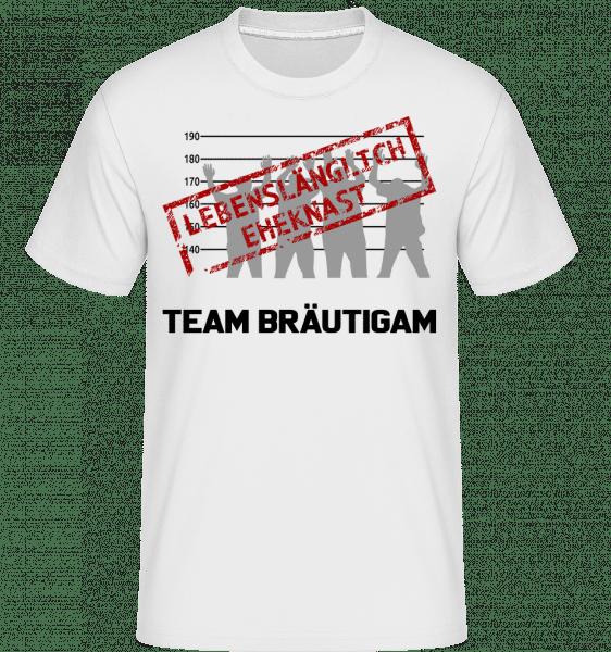 Häftling Team Bräutigam - Shirtinator Männer T-Shirt - Weiß - Vorn