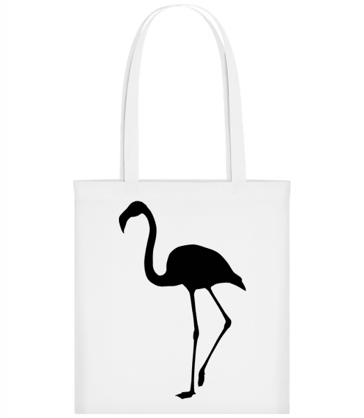 Flamingo Shadow - Carrier Bag - White - Vorn
