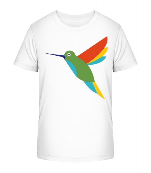 Hummingbird Comic - Kid's Premium Bio T-Shirt - White - Front