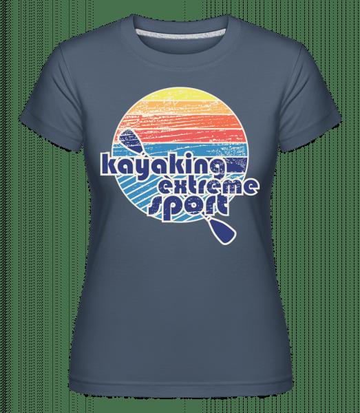 Kayaking Logo -  Shirtinator Women's T-Shirt - Denim - Vorn
