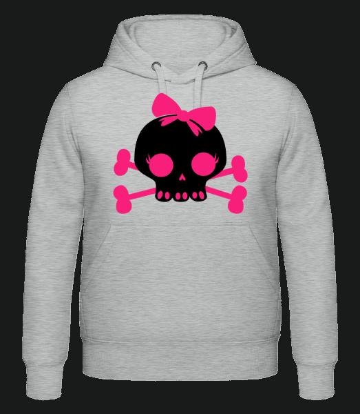 Emo Skull Pink - Hoodie - Heather Grey - Vorn