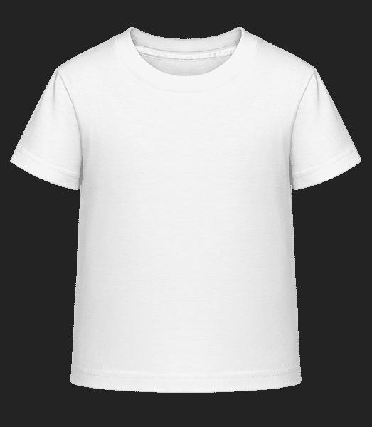 Detské Shirtinator tričko - Biela - Predné